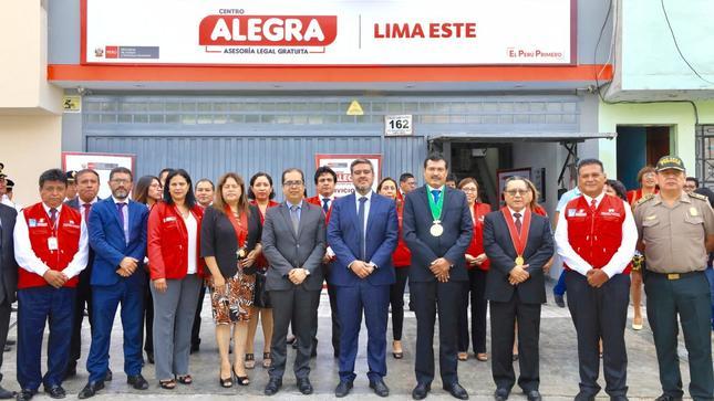 MINJUSDH inaugura nuevo consultorio Mega Alegra en Santa Anita