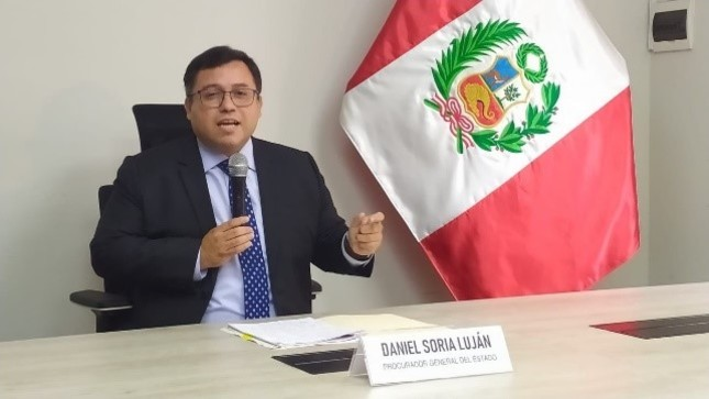 Procurador General del Estado ofrece conferencia de prensa por término de la designación del Procurador Público Jorge Ramírez