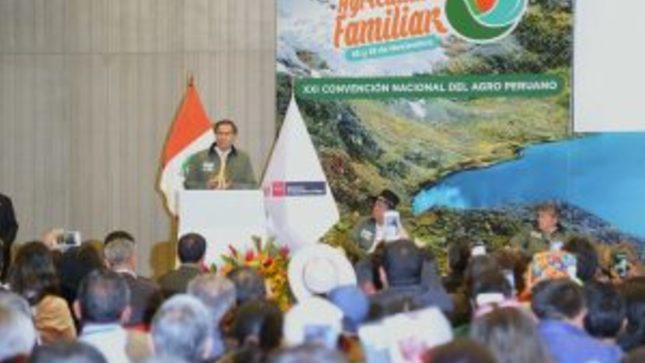 Ministro Jorge Montenegro anuncia Plan Nacional de Agricultura Familiar con apoyo de 12 sectores