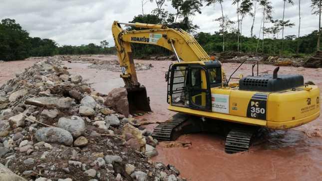 MVCS realiza trabajos de encauzamiento y descolmatación en las regiones de Junín y Pasco