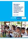 Vista preliminar de documento Mensajes y acciones importantes para la prevención y el control del COVID-19 en las escuelas