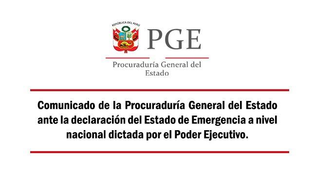 Comunicado de la Procuraduría General del Estado