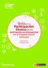 Vista preliminar de documento Guía para la participación efectiva de los participantes con discapacidad en el Empleo Social Inclusivo