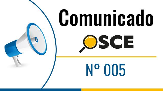 Comunicado Nº 005-2020: Sobre la ejecución de contratos, en el marco de las normas que establecen medidas excepcionales para contener la propagación del COVID-19