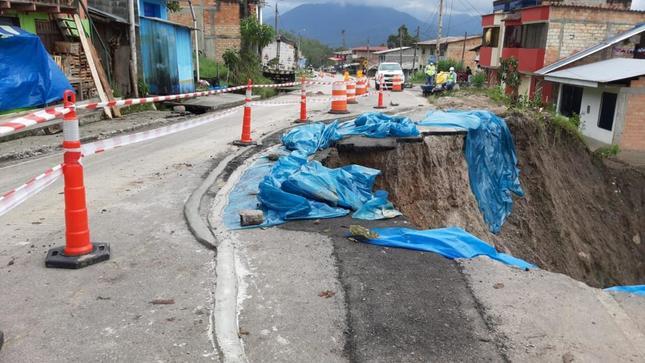 MTC trabaja en el restablecimiento del tránsito en el sector La Esperanza del departamento de Amazonas