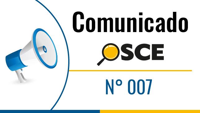 Comunicado N° 007-2020