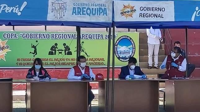 Ministro de Agricultura  participa en instalación del Comando Regional de Arequipa contra el Covid-19