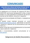 """Vista preliminar de documento Comunicado """"MESA DE PARTES VIRTUAL"""""""