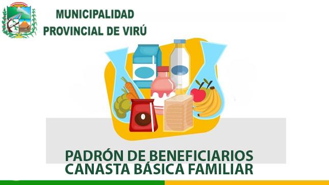 PUBLICACIÓN DE LA LISTA DE BENEFICIARIOS DE LA CANASTA BÁSICA FAMILIAR