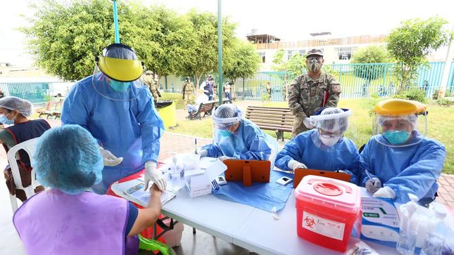"""Grupo """"Te Cuido Perú"""" continúa realizando operativos en mercados para detectar casos positivos de COVID-19"""