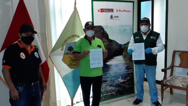 Minagri firma convenio con la municipalidad distrital de Coviriali para enfrentar la temporada de lluvias