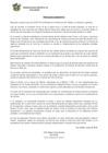 Vista preliminar de documento PRONUNCIAMIENTO SOBRE PRIMER CASO DE COVID 19