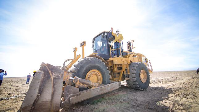Gobierno regional de Arequipa inició construcción de vías perimetrales del proyecto Majes Siguas ll como parte de la reactivación económica