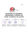 Vista preliminar de documento Plan para la vigilancia, prevención y control de COVID-19 para el ITP RedCITE