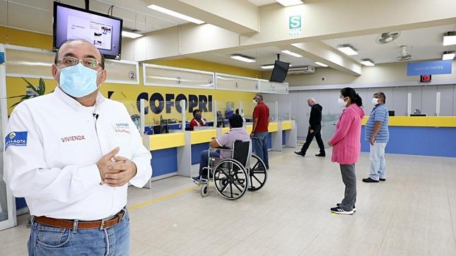 COFOPRI IMPLEMENTA MEDIDAS DE BIOSEGURIDAD PARA ATENDER A LOS USUARIOS EN TODO EL PERÚ