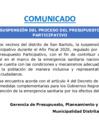 Vista preliminar de documento Comunicado sobre suspensión del Presupuesto Participativo