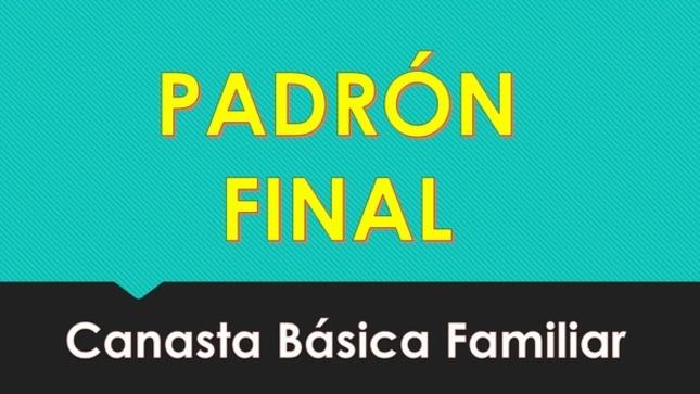 LISTADO FINAL DE BENEFICIADOS DE LA CANASTA BÁSICA FAMILIAR