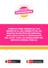 Vista preliminar de documento Orientaciones para el uso correcto de los Equipos de Protección Personal (EPP) en el servicio de limpieza pública