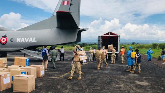 Gobierno entrega más de 4 toneladas de medicamentos, equipos de protección personal y pruebas de descarte de la COVID-19 a región San Martín