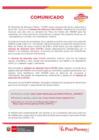 Vista preliminar de documento Comunicado: Sistema de Atención Cero COVID