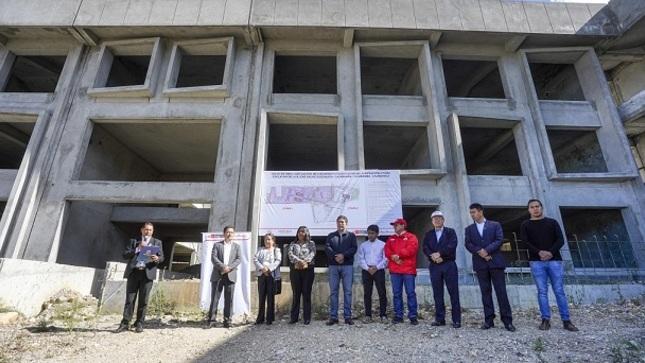 Cajamarca: Pronied entrega terreno para reiniciar la obra de la IE Emblemática José Gálvez Egúsquiza