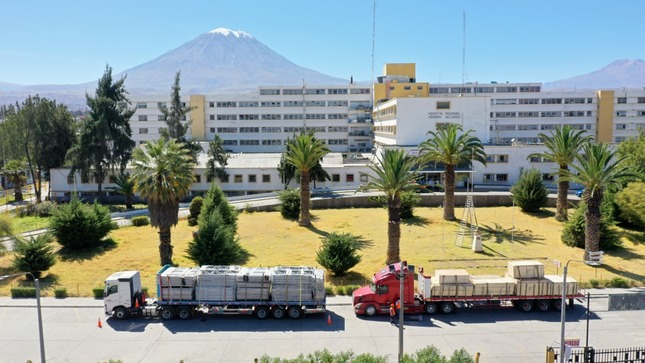 Arequipa: empezó construcción de hospitales temporales en Honorio Delgado y Goyeneche