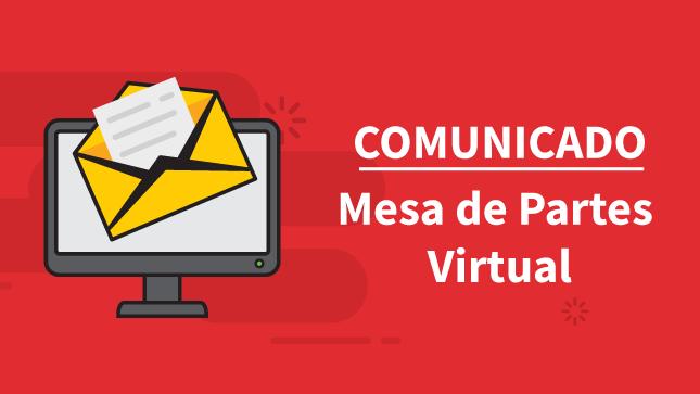 Comunicado sobre el funcionamiento de la Mesa de Partes Virtual del Conadis para la atención a la ciudadanía