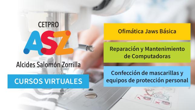 El Cetpro Alcides Salomón Zorrilla abre inscripciones para cursos gratuitos virtuales gratuitos para personas con discapacidad