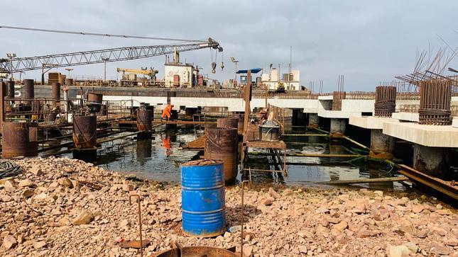 Terminal Portuario General San Martín reinicia obras de modernización