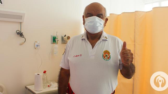 Comandante General del Cuerpo de Bomberos Voluntarios del Perú fue dado de alta del Hospital Emergencia Ate Vitarte luego de recuperarse del COVID-19