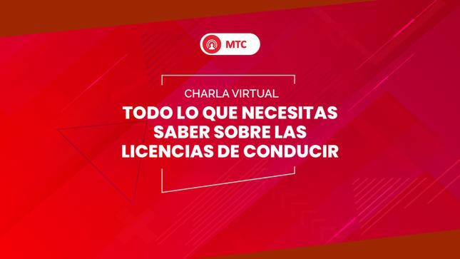 MTC inició ciclo de videoconferencias sobre transporte a nivel nacional