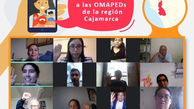 Capacitan a personal de OMAPED de Cajamarca para mejorar la atención a personas con discapacidad severa