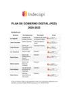 Vista preliminar de documento Plan de Gobierno Digital 2020-2022