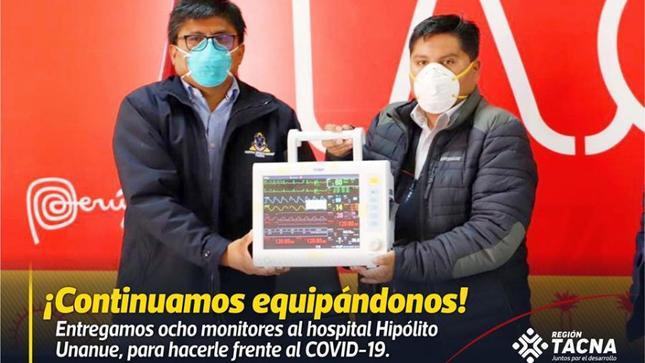 GRT entrega monitores a hospital Hipólito Unanue
