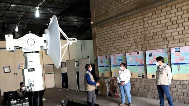 Ministra del Ambiente visita el radar más grande y potente del mundo por 98.° aniversario del IGP