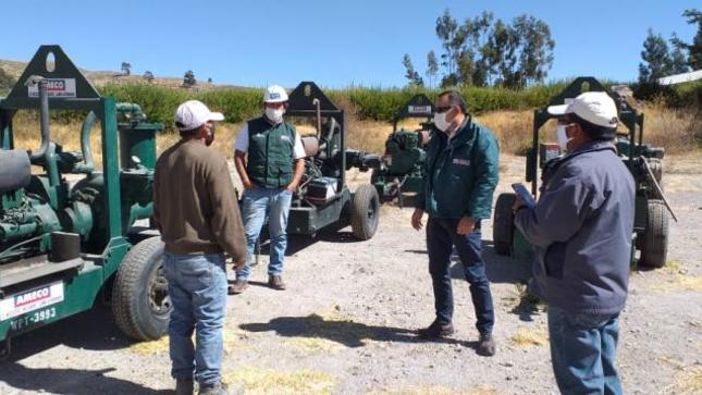 ANA supervisa avance de trabajos en zona de derrumbes del río Colca