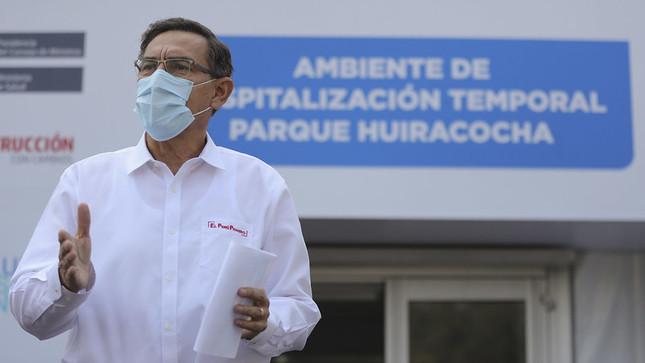 Presidente Vizcarra: Se incorporarán 1500 camas adicionales para reforzar oferta hospitalaria en regiones