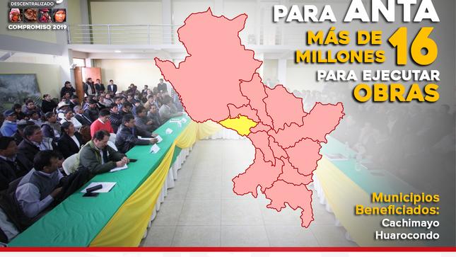 ANTA RECIBIRÁ MAS DE 16 MILLONES DE SOLES PARA OBRAS DE DESARROLLO, GRACIAS A LOS TINKUY DESCENTRALIZADOS