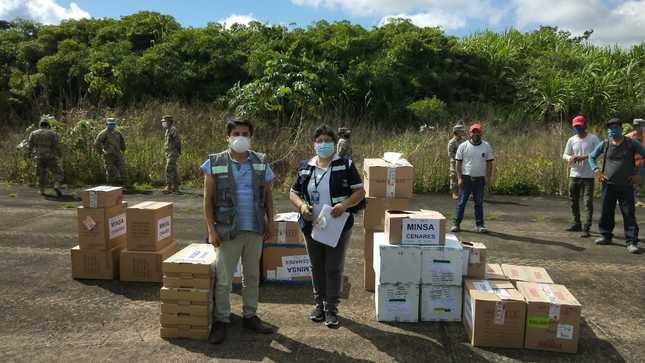 CENARES-MINSA envió más de 53 mil suministros médicos por la COVID-19 hacia Madre de Dios