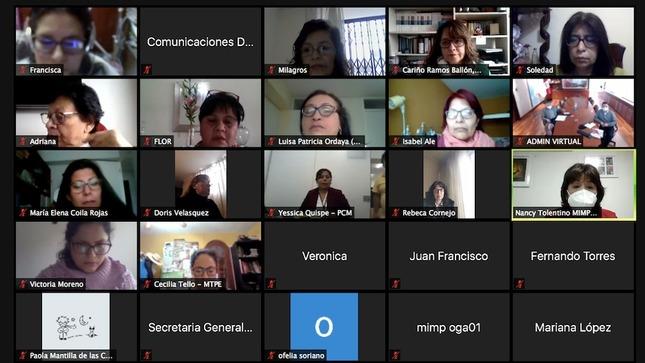 Ministerios del Estado compartieron acciones con enfoque de género para contribuir a un Perú con igualdad