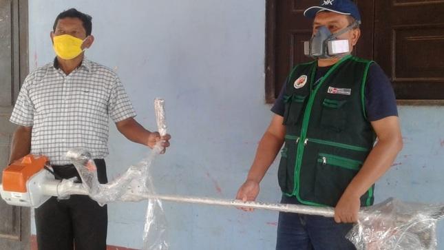 Minagri entregó motosierras y motoguadañas a Asociación de Productores de Camu Camu de Alto Amazonas