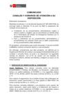 Vista preliminar de documento Comunicado: Canales y horarios de atención a su disposición